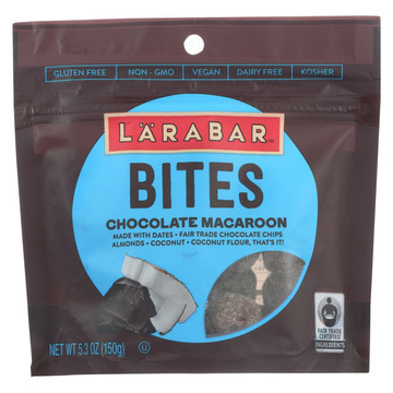 Larabar Bites - Chocolate Macaroon - Case of 6 - 5.3 oz.