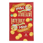Late July Snacks Sandwich Crackers - Peanut Butter - Case of 4 - 1.125 oz.
