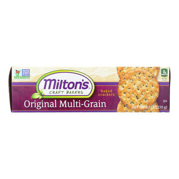 Miltons Organic Baked Snack Crackers - Original Multi-Grain - Case of 12 - 8.3 oz.