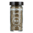 Morton and Bassett 100% Organic Seasoning - Basil - .4 oz - Case of 3