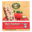 Nature's Path Organic Flax Plus Granola Bar - Berry Strawberry - Case of 6 - 6.2 oz.