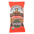 Newman's Own Organics Organic Pretzel Sticks - Salted - Case of 12 - 8 oz.