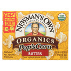Newman's Own Organics Butter - Popcorn - Case of 12 - 3.3 oz.