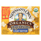 Newman's Own Organics Organic Popcorn - Light Butter - Case of 12 - 2.8 oz.