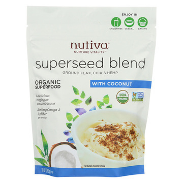 Nutiva Organic Superseed Blend - Coconut - Case of 6 - 10 oz.
