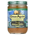 Once Again Organic Almond Butter - Creamy - Case of 12 - 16 oz.