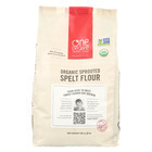 One Degree Organic Foods Sprouted Spelt Flour - Organic - Case of 4 - 80 oz.