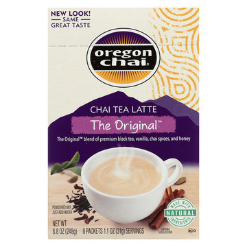 Oregon Chai Tea Latte Mix - The Original - Case of 6 - 8 Count