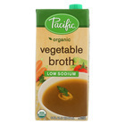 Pacific Natural Foods Vegetable Broth - Low Sodium - Case of 12 - 32 Fl oz.