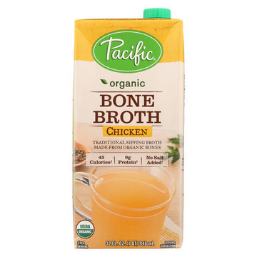 Pacific Natural Foods Bone Broth - Chicken - Case of 12 - 32 Fl oz.