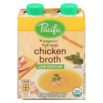 Pacific Natural Foods Free Range Chicken Broth Low Sodium Case