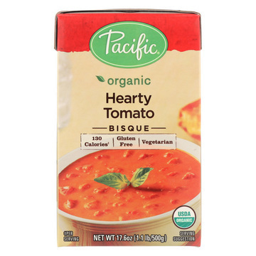Pacific Natural Foods Bisque - Hearty Tomato - Case of 12 - 17.6 oz.