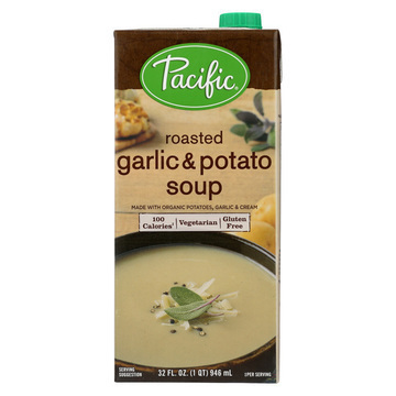 Pacific Natural Foods Soup - Garlic and Potato - Case of 12 - 32 oz.