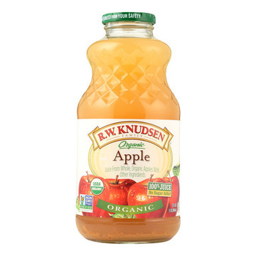 R.W. Knudsen Organic Juice - Apple - Case of 12 - 32 Fl oz.