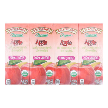 R.W. Knudsen - Organic Juice - Apple - Case of 7 - 6.75 Fl oz.