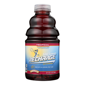 R.W. Knudsen - Recharge Juice - Tropical - Case of 12 - 32 Fl oz.