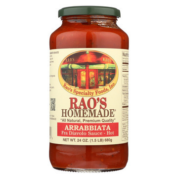 Rao's Specialty Food Homemade Sauce - Arrabbiata - Case of 12 - 24 oz.
