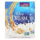 Rice Dream Original Rice Drink - Vanilla Organic - Case of 6 - 8 Fl oz.