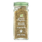 Simply Organic Vegetable Grilling Seasons - Case of 6 - 2.2 oz.