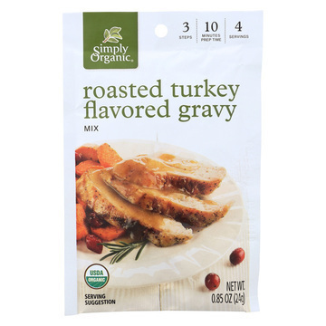 Simply Organic Roasted Turkey Flavored Gravy Seasoning Mix - Case of 12 - 0.85 oz.