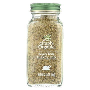 Simply Organic Turkey Rub - Case of 6 - 2.43 oz.