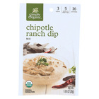 Simply Organic Chipotle Ranch Dip - Case of 12 - 1 oz.