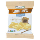 Simply 7 Lentil Chips - Sea Salt - Case of 24 - 0.8 oz.