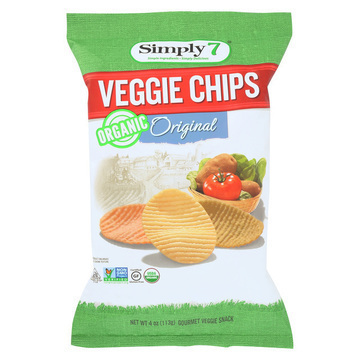 Simply 7 Veggie Chips - Original - Case of 12 - 4 oz.