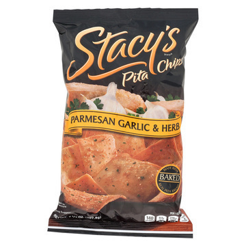 Stacy's Pita Chips Parmesan Garlic and Herb Pita Chips - Parmesan Garlic - Case of 12 - 7.33 oz.