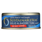Sustainable Seas Solid Albacore Tuna - No Salt Added - Case of 12 - 4.1 oz.