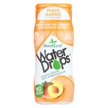 Sweet Leaf Stevia Water Enhancer Water Drops - Peach Mango - Case of 6 - 2.1 Fl oz.