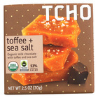 Tcho Chocolate Organic Milk Chocolate Bar - Toffee and Sea Salt - Case of 12 - 2.5 oz.