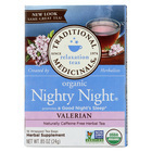 Traditional Medicinals Organic Herbal Tea - Nighty Night, Valerian - Case of 6 - 16 Bags