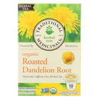 Traditional Medicinals Organic Herbal Tea - Roasted Dandelion Root - Case of 6 - 10 Count