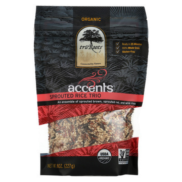 Truroots Organic Trio Rice - Accents Sprouted - Case of 6 - 8 oz.