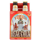 Virgil's Rootbeer Natural Soda - Real Cola - Case of 6 - 12 Fl oz.
