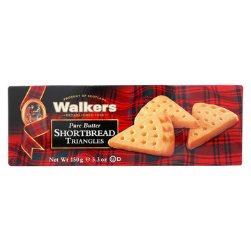 Walkers Shortbread - Pure Butter Triangle - Case of 12 - 5.3 oz.