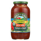 Walnut Acres Organic Sauces - Tomato and Basil - Case of 12 - 25.5 Fl oz.