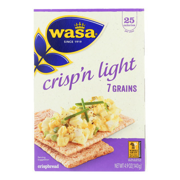 Wasa Crispbread Crisp 'N Light 7 Grain Crackerbread - Case of 10 - 4.9 oz.
