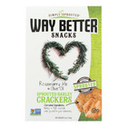 Way Better Snacks Crackers - Rosemary Me and Olive Oil - Case of 6 - 5 oz.