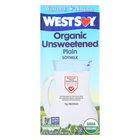 Westsoy Organic Plain - Unsweetened - Case of 12 - 32 Fl oz.