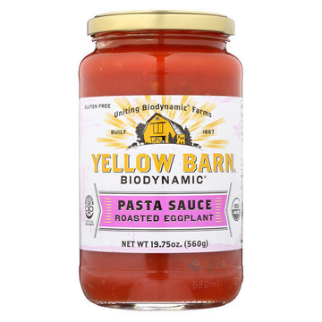 Yellow Barn Pasta Sauce Roasted Eggplant - Case of 6 - 19.75 oz.