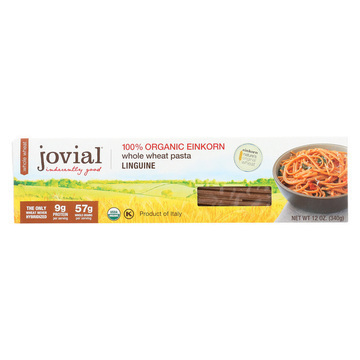 Jovial Whole Wheat Einkorn Pasta - Linguine - Case of 12 - 12 oz.