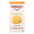 Wellaby's Crackers - Classic Cheese - Case of 6 - 3.9 oz.