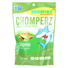 Seasnax Chomperz Crunchy Seaweed Chips - Jalapeno - Case of 8 - 1 oz.