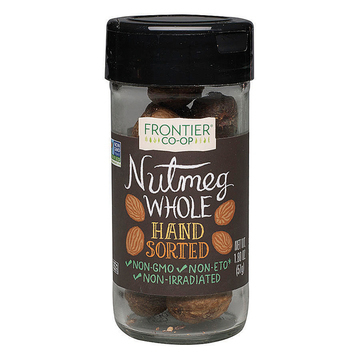 Frontier Herb Nutmeg Whole - Hand Sorted - Case of 12 - 1.8 oz.