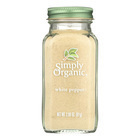 Simply Organic White Pepper - Case of 6 - 2.86 oz.
