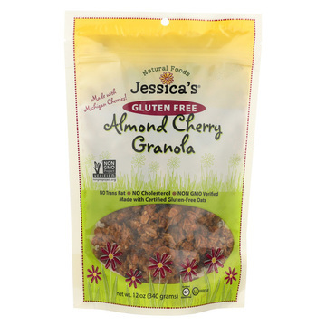 Jessica's Natural Foods Granola - Almond Cherry - Case of 12 - 12 oz.