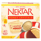 Nektar Honey Crystals Honey Sticky Mess - Granulated - Case of 6 - 40 Count