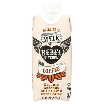 Rebel Kitchen Organic Coconut Milk - Coffee - Case of 8 - 11 Fl oz.